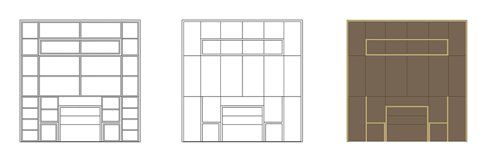dining cupboard drawings